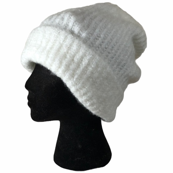 Free People Ivory Slouchy Beanie Hat Cap
